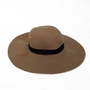 Cotton On Tan 100% Wool Wide Brim Floppy Hat